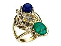 House Of Harlow Arremon Feather Ring Malachite Lapis Ring Gold
