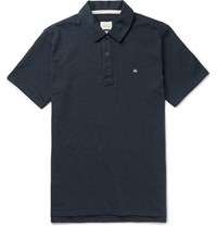 Rag And Bone Standard Issue Cotton Polo Shirt Navy