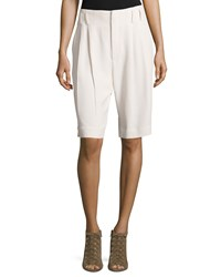 Brunello Cucinelli Elongated Fluid Shorts Vanilla
