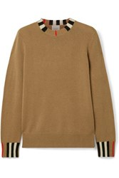 Burberry Striped Cashmere Sweater Light Brown
