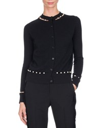 Givenchy Pearly Embellished Cardigan Black
