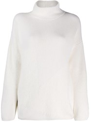 Lorena Antoniazzi Roll Neck Sweater White