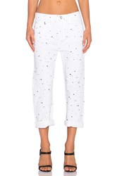 Marc By Marc Jacobs Annie Boyfriend Crop Jean White