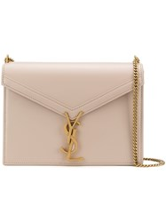 Saint Laurent Cassandra Monogram Clasp Bag Neutrals