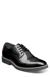 Stacy Adams Barcliff Cap Toe Derby Black Leather