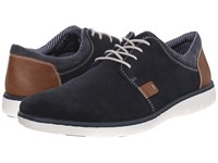 Rieker 17512 Dirk 12 Pacific Amber Denim Men's Lace Up Casual Shoes Black