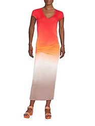 Young Fabulous And Broke Araya Maxi Dress Red Ombre
