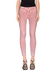 Current Elliott Denim Denim Trousers Women Pastel Pink
