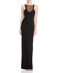 Aq Aq Celia Illusion Inset Gown Black