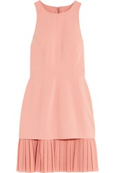 Cinq A Sept Catriona Layered Crepe And Chiffon Mini Dress Baby Pink