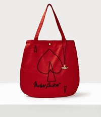 Vivienne Westwood Motherfucker Round Shopper Red