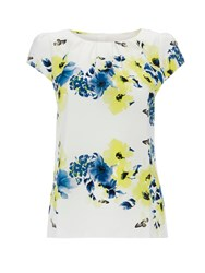 Wallis Cream Butterfly Print Shell Top