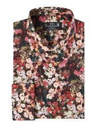 New And Lingwood Nightshade Floral Print Shirt Red