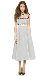 Self Portrait Lucille Dress White Black