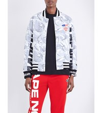 Aape By A Bathing Ape Camouflage Print Cotton Blend Jacket White Grey