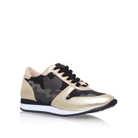 Carvela Libby Low Heel Lace Up Sneakers Gold