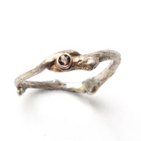 Carrie Bilbo Jewelry Single Twig Ring Brownbrown And Silver Sterling Silver Smokey Quartz 7.5