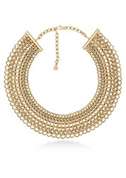 Michael Kors Chainmail Collar Necklace Gold