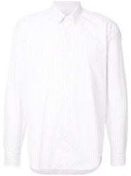 Cerruti 1881 Striped Long Sleeve Shirt White