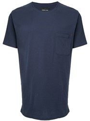 Commune De Paris Chest Pocket T Shirt Blue