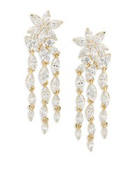 Nadri Cubic Zirconia Chandelier Earrings Gold