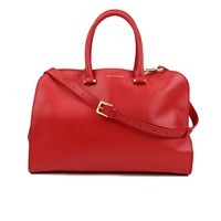 Lulu Guinness Women's Vivienne Medium Smooth Leather Tote Bag Red