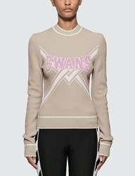 Off White Knit Swans Sweater Green