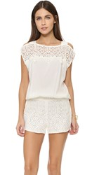 Ramy Brook Irina Romper With Lace Soft White