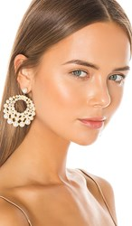 Jennifer Behr Prianna Earrings In White. Pearl