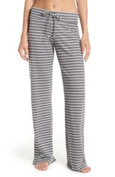 Nordstrom Lingerie 'Lazy Mornings' Lounge Pants Grey Pavement Bella Stripe