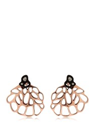 Flowen Aoda Rose Gold Plated And Diamond Earrings