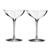 Waterford Optic Champagne Belle Coupe Glasses Set Of 2