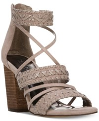 Carlos By Carlos Santana Java Block Heel City Sandals Women's Shoes Light Doe