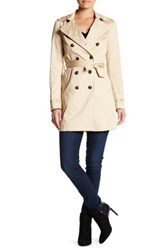 Soia And Kyo Double Breasted Trench Coat Beige