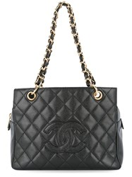 Chanel Vintage Quilted Chain Handbag Black