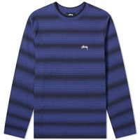 Stussy Long Sleeve Ombre Crew Tee Blue
