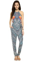 Mara Hoffman Cover Up Jumpsuit Peacocks Green