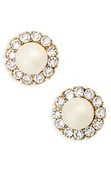 Marc Jacobs Women's Imitation Pearl Stud Earrings Cream Antique Gold