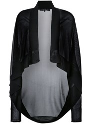 Barbara Bui Shawl Lapel Sheer Cardigan Women Viscose Xs Black