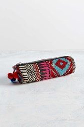 Urban Outfitters Geo Embroidered Zip Pouch Assorted