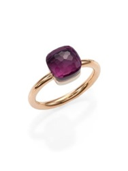 Pomellato Nudo Amethyst And 18K Rose Gold Small Ring