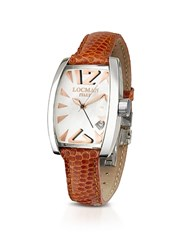 Locman Panorama Mother Of Pearl Dial Dress Watch Brown