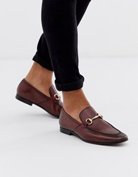 Office Lemming Bar Loafers In Burgundy Leather Red