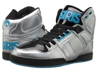 Osiris Nyc83 Silver Cyan Black Men's Skate Shoes