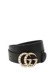 Gucci 40Mm Gg Marmont Pearl Buckle Belt