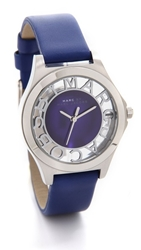 Marc By Marc Jacobs Henry Skeleton Watch Silver Mineral Blue
