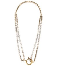 Balenciaga Crystal Embellished Necklace Gold