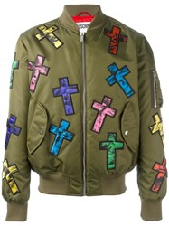 Moschino Cross Patch Bomber Green