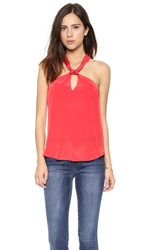 Rory Beca Front Knot Halter Top Sin