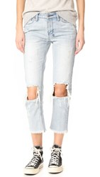 Ksubi Straight N Narrow Jeans Blow Out Blue